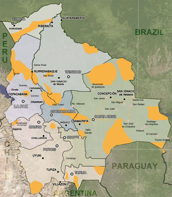 Reservas naturales  Bolivia